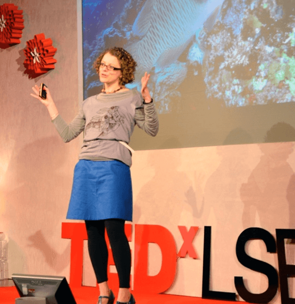 Telling stories for a TEDx talk at LSE.